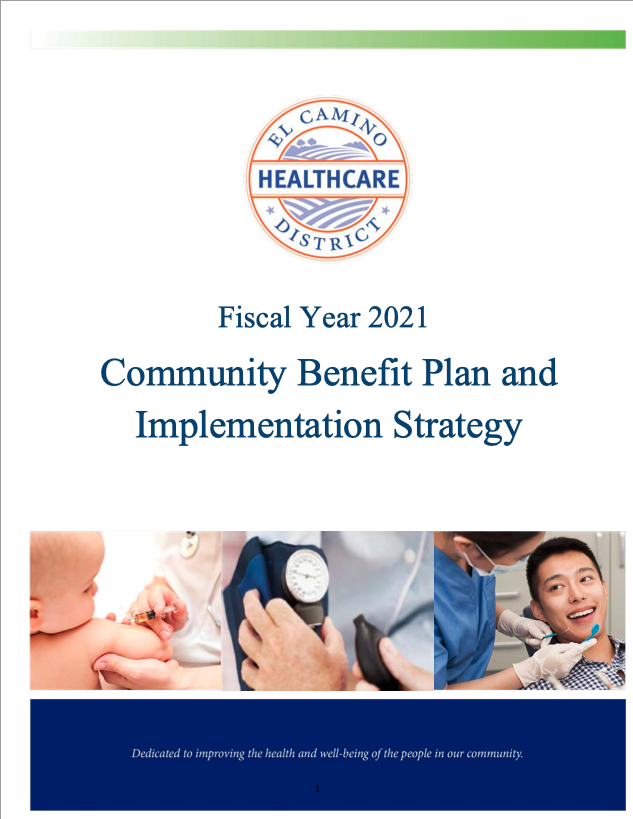 Cover 2021 Commuity Benefit Plan