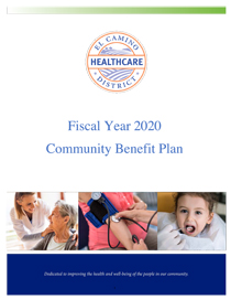 Cover of Community Benefit Plan FY2020