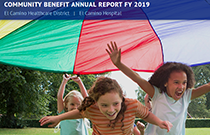 Image of the 2019 Community Benefit Report click to visit